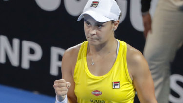 Ash Barty has squared the ledger for Australia.