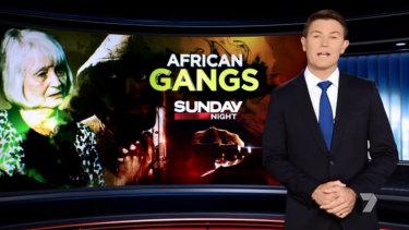 Alex Cullen presenting Seven's Sunday Night.