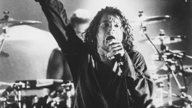 Michael Hutchence on stage in 1993.