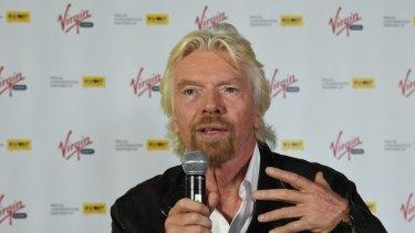 Richard Branson, a shareholder in Virgin Australia.