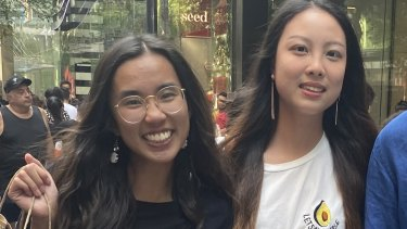 Kelly Chu and Emily Weng at the 2019 Boxing Day sales.