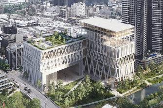 The winning Powerhouse Museum design, by architects Moreau Kusunoki and Genton.