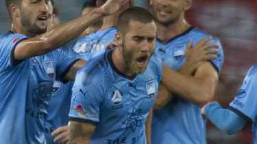 Not so brilliant: Sydney FC could be about to lose Josh Brillante to Pohang Steelers.