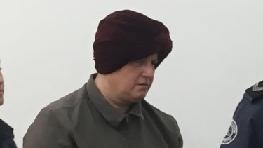 Malka Leifer in court at an earlier hearing.