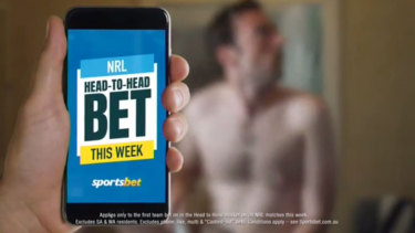 This Sportsbet ad received almost 800 complaints.