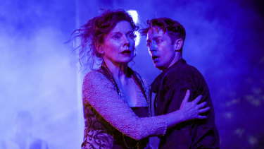 Alison Whyte and Andre de Vanny in Hamlet.