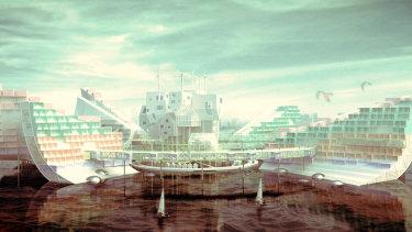 Port Phillip Bay design by Linus Junbo Qu from Melbourne School of Design.