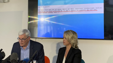 The message the alleged extortionist sent to WikiLeaks' editor Kristinn Hrafnsson.
