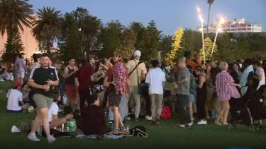 Footage of maskless beachgoers at St Kilda sparked anger from the Premier and Chief Health Officer.