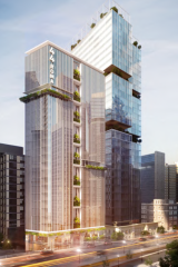 Artist impressions of the hotel development pitched for the corner of Roma and Turbot streets in Brisbane's CBD.