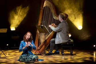 Genevieve Lacey and Marshall McGuire bring recorder and harp to the stage