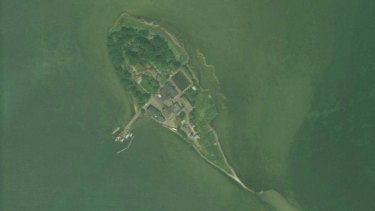 Lindholm pictured from the air. The island about 1km off the Denmark mainland will be used to house criminals and unwanted migrants.