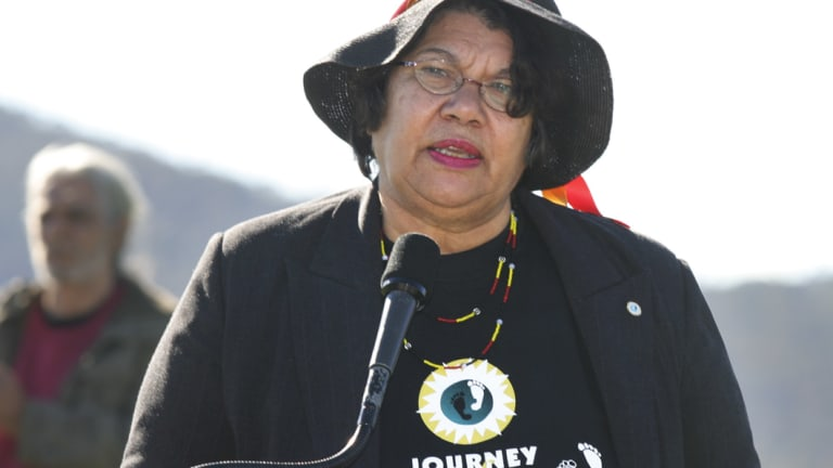 Ngingali Cullen, a prominent Aboriginal activist who was co-chair of the National Sorry Day Committee.