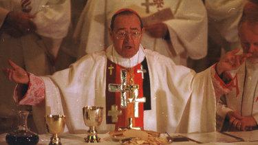 Former Ballarat bishop Ronald Mulkearns.
