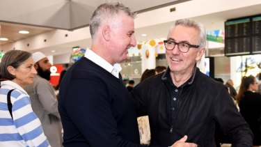 Fresh questions: FFA head of national teams, Luke Casserly, meets Bert van Marwijk after he was appointed short-term Socceroos coach last January.