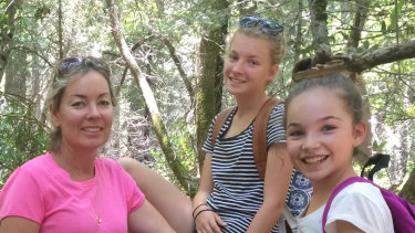 Linda Tollis with her daughters Charlotte and Chelsea.