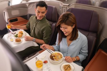 singapore airlines dining grounded a380 pandemic