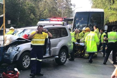 A multi-car crash on the Centenary Motorway at Jindalee in March which injured almost 20 people.