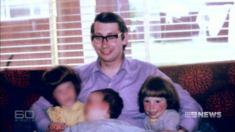 Richard Haynes with his two daughters and son.