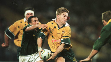 Former Wallaby Tim Horan during his playing days.