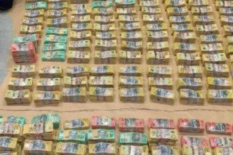 More than $4 million cash seized in a raid in Brisbane last November.