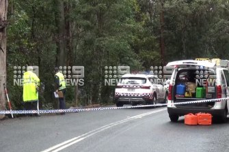 The scene in the Gold Coast hinterland on Friday.