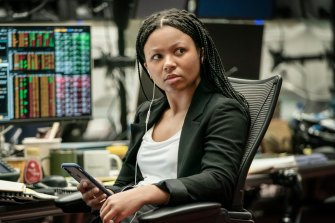 "Harper, played by Myha'la Herrold, works on the trading floor where ""you need to prove you can play as hard as you work""."