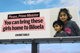 Biloela locals hired billboards as part of their campaign.