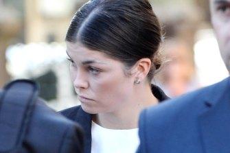 Billie Rodda at the Bendigo Magistrates Court in May.