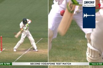 Tim Paine's dismissal, and the Snicko sound reading that appeared to come after the ball had passed the bat.