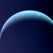 A Voyager 2 image of Neptune.