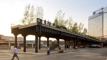 Sections of New York's High Line have been repurposed as a park and walkway featuring public art.