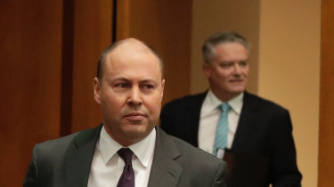 "Treasurer Josh Frydenberg: ""We can see the mountain ahead and Australia begins to climb. We must remain strong."""