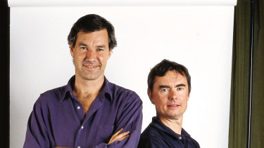 Intrepid founders Darrell Wade (left) and Geoff Manchester in 2003.