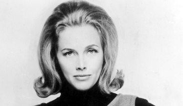 """Honor Blackman as """"Bond Girl"""" Pussy Galore pictured in 1964."""