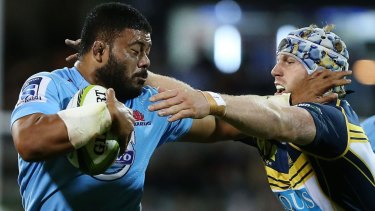 Big bodies back for the Waratahs: Tolu Latu and Curtis Rona will play against the Sharks in Sydney on Saturday.