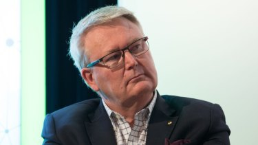 AFR Innovation Summit. Dr Simon Longstaff AO, Executive Director, The Ethics Centre, speaking at the AFR Innovation Summit in Sydney. 20th September 2017 Photo: Janie Barrett