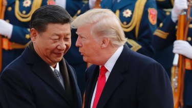 The US deficit on the trade in goods with China was a record $US419 billion.
