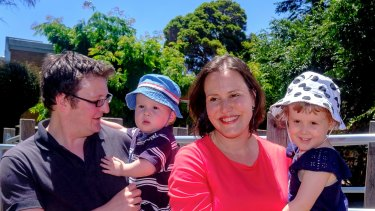 Higgins MP Kelly O'Dwyer and her family as she announces she will not recontest the blue-ribbon seat.