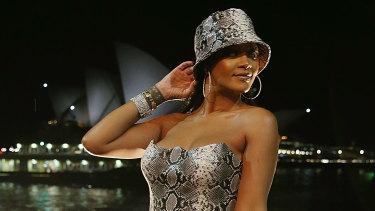 Rihanna celebrating the first birthday of Fenty Beauty in Sydney on Wednesday.