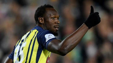 Gone in a dash: Usain Bolt leaves Mariners after failing to agree to financial terms.