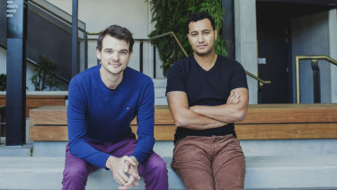 James Morrell (left) and Mahdi Chardi, co-founders of interstate removalist startup Muval