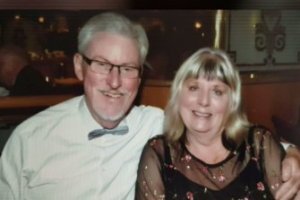 Australian couple Carole and Peter Burke from Port Macquarie are stranded on the Zandaam cruise ship.