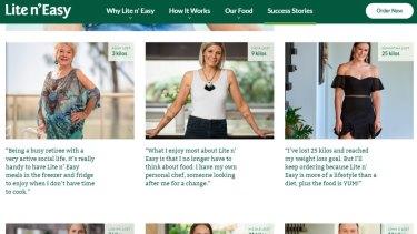 The Lite n Easy website focuses on individual case studies.
