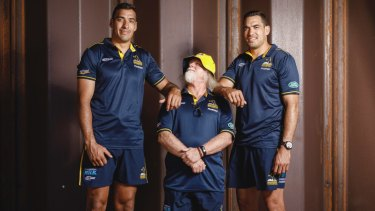 Brumbies twins Richie (left) and Rory Arnold (right) are set to start together for the first time.