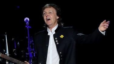 Paul McCartney on stage.