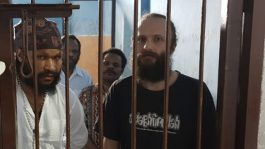 Jakub Skrzypski is on trial for treason in Indonesia after meeting with Papuan independence supporters. He has alleged that visitors to his prison assaulted him and threatened to kill him as guards watched.