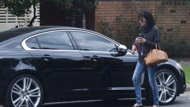 Samantha Madigan and the Jaguar.