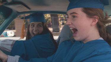 Beanie Feldstein stars as Molly and Kaitlyn Dever as Amy in Olivia Wilde's directorial debut, Booksmart.