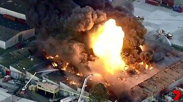 The fire in West Footscray last week.